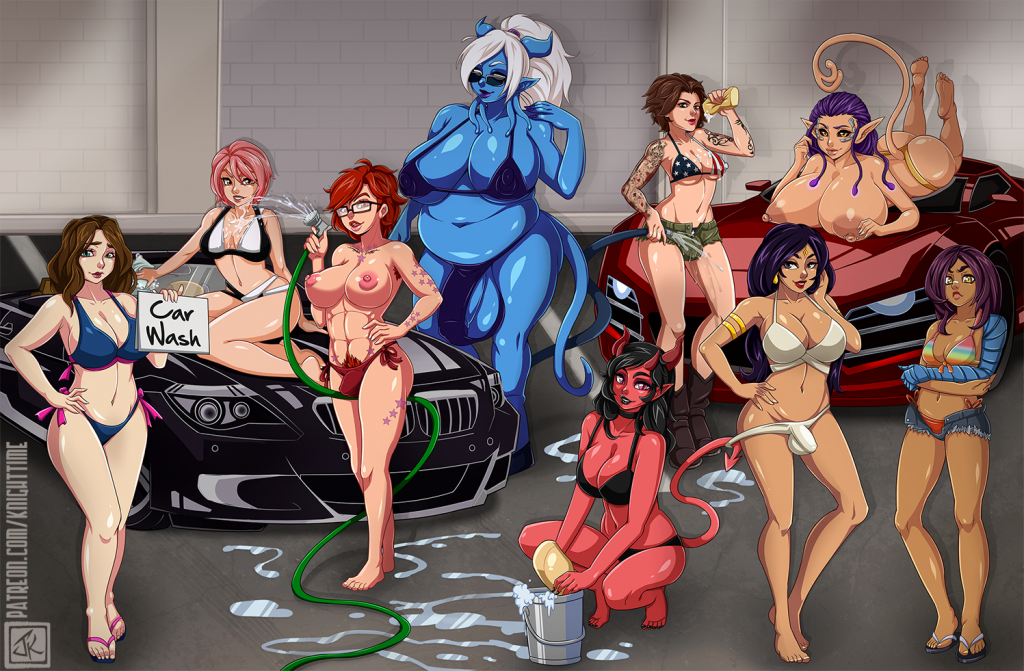 futanari car wash